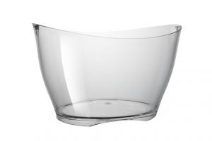 Spumantiera ovale trasparente 5 o 6 bottiglie cm.29,5x40x25h