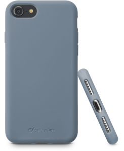 Cellularline Sensation - iPhone 8/7 Custodia in silicone soft touch Grigio