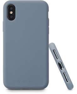 Cellularline Sensation - iPhone XS/X Custodia in silicone soft touch Grigio