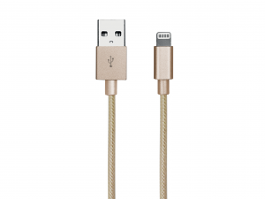 SBS TECABLEUSBIP5BG cavo per cellulare USB A Micro-USB B/Apple 30-p/Lightning Oro 1 m