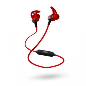 SBS TESPORTEARSETBT500R auricolare per telefono cellulare Stereofonico Auricolare, Passanuca Rosso Senza fili