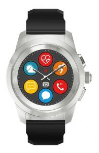 MyKronoz ZeTime smartwatch Nero, Argento TFT 3,1 cm (1.22