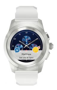 MyKronoz ZeTime Regular Original smartwatch Argento, Bianco TFT 3,1 cm (1.22