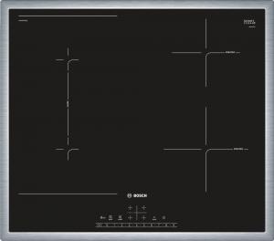 Bosch Serie 6 PVS645FB5E piano cottura Nero, Acciaio inossidabile Da tavolo A induzione