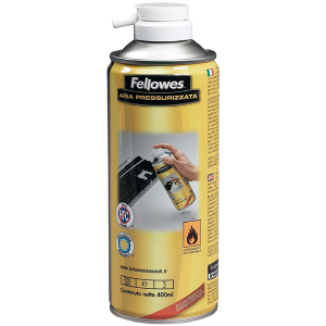 FELLOWES Bombola Aria Compressa 400 ml 93040 99676 Accessorio Pulizia Pc