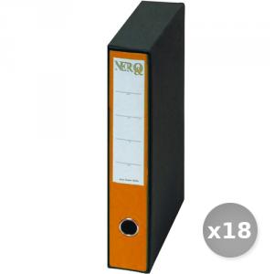 Set 18 BREFIOCART raccoglitore protocollo d5 arancione 0201157 dossier