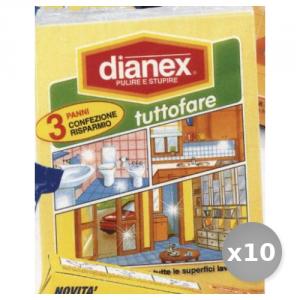 Set 10 DIANEX 3 Panni Tuttofare Attrezzi Pulizie