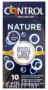 CONTROL Profilattici Natura Easy Way Per il Piacere Personale 10 Pezzi