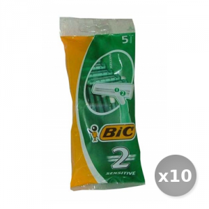 Set 10 BIC Sensitive 2 Lame r&g x 5 Pezzi Prodotti per Rasatura