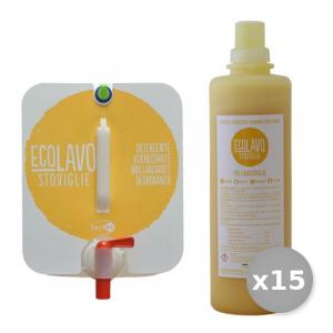 Set 15 ECOLAVO Stoviglie Aecsto15 Detersivo Detergente Pulizia Della Casa