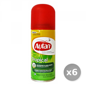 Set 6 AUTAN Tropical Spray Secco Antipuntura 100 ml Articoli per Insetti