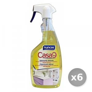 Set 6 NUNCAS Sgrassatore Multiuso Trigger 750 ml Detergenti Casa