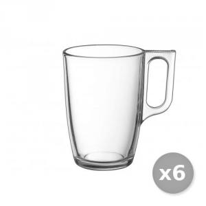 ARC Set 6 Mugs di vetro Trasparente Nuevo Cl 32 - J1143