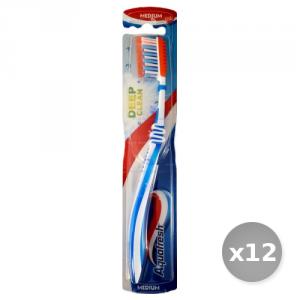 Set 12 AQUAFRESH Spazzolino Da Denti Flex Denti Lingua+Gom Igiene E Cura Dei Denti