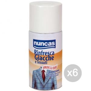 Set 6 NUNCAS Rinfresca Giacche 250Ml Tessuti Spray Profumazione Della Casa