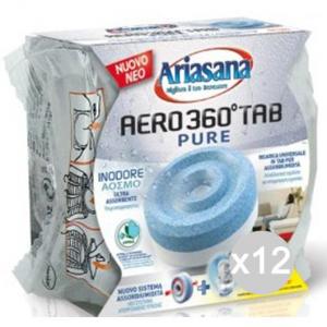 Set 12 ARIASANA Ricarica Aero 360 Inodore Pastiglia Deumidificatore Ambiente
