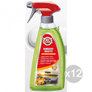 Set 12 MY CAR Auto Rimuovi Insetti Ml 500 Spray Pulizia Dell'Auto