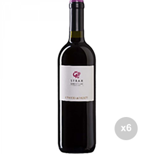 Set 6 VERGA Vino syrah 750 12,5ø bevanda alcolica da tavola