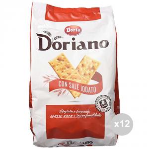 Set 12 DORIA Crackers sacco salati rossi gr 700 snack salato