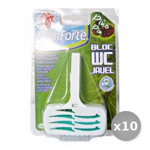 Set 10 Granforte Tavolette wc Candeggina Solida Detergenti Casa