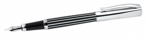 Penna Stilografica a strisce bianco nere cm.14x1,2x1,2h