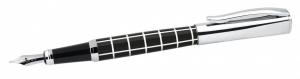 Penna Stilografica a quadri bianchi e neri cm.14x1,2x1,2h