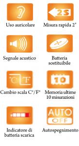 TERMOMETRO AURICOLARE ELETTRONICO DIGITALE AD INFRAROSSI - KIARA BY MORETTI