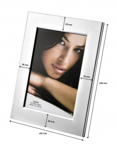 Portafoto in silver plated cm.20x15x2h