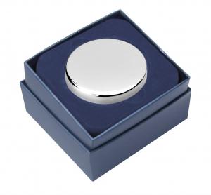 Scatola Portagioie in silver plated cm.3h diam.6