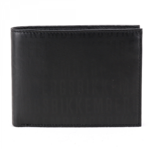 Portefeuille pour homme Bikkembergs WRITE WRITE-300 D38 NERO