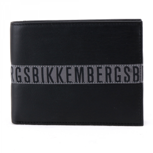 Portefeuille pour homme Bikkembergs TAPE TAPE-300 999 NERO