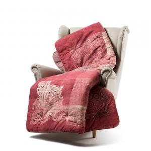 Caleffi Scaldotto Gepolstertes Plaid für das 130x170 cm Sofa LIVING Bordo '-2