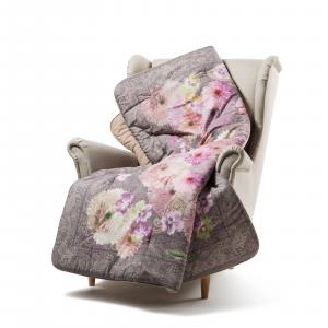 Caleffi Scaldotto Gepolstertes Plaid für Sofa 130x170 cm FLORA Rosa