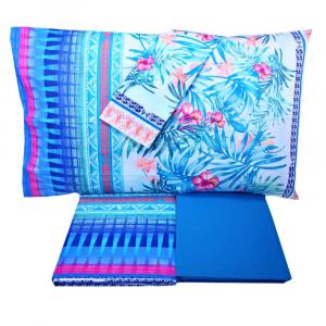 Bassetti Granfoulard bed sheets set SORRENTO var.3 blue