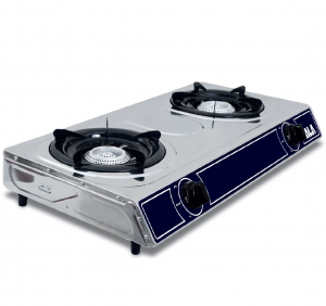 Bruciatore Professionale Ala 2 fuochi inox mod. EF1002