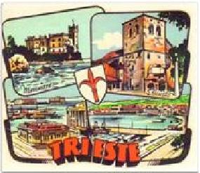 ADESIVO TRIESTE  PIAGGIO VESPA INNOCENTI LAMBRETTA ANNI '60 189110514