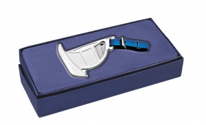 Targhetta per valigia barca a vela in silver plated cm.16,1x7,4x1h