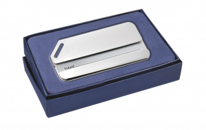 Targhetta valigia liscia silver plated