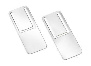 Segnalibro argentato argento silver plated 2 pezzi
