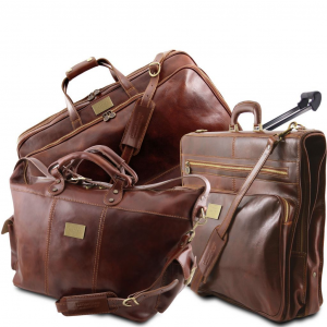 Tuscany Leather TL141078 Luxurious - Set da viaggio Marrone
