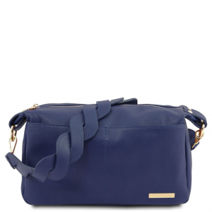 Tuscany Leather TL141746 TL Bag - Bauletto in pelle morbida Blu scuro