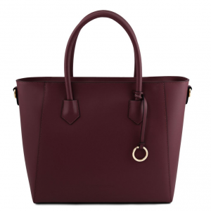 Tuscany Leather TL141823 Aria - Borsa shopper in pelle Bordeaux