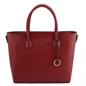 Tuscany Leather TL141823 Aria - Borsa shopper in pelle Rosso