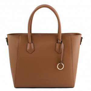Tuscany Leather TL141823 Aria - Borsa shopper in pelle Cognac