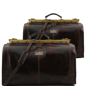 Tuscany Leather TL1070 Madrid - Set da viaggio in pelle Testa di Moro