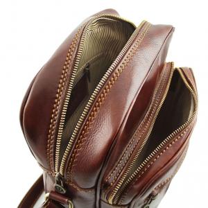 Tuscany Leather TL140680 Oscar - Esclusivo Borsello in pelle a tracolla Marrone