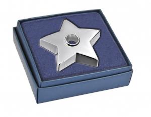 Portacandela stella in silver plated cm.2h diam.10