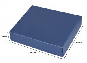 Porta foglietti liscio in silver plated cm.15,7x11,5x4,5h