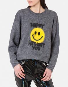 pullover grigio spray me smiley®