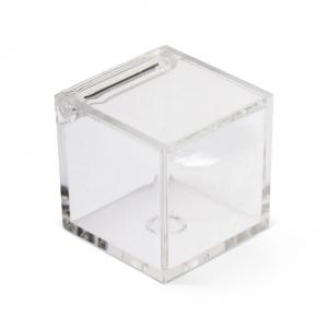 Scatola cubo bomboniera per confetti in plexiglass cm.5x5x5h